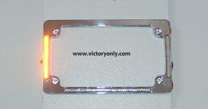 victory motorcycle parts License Plate frame Chrome Turn Signals & Brake Light