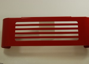 Oil Cooler Cover BAR DESIGN RED PRE 2007