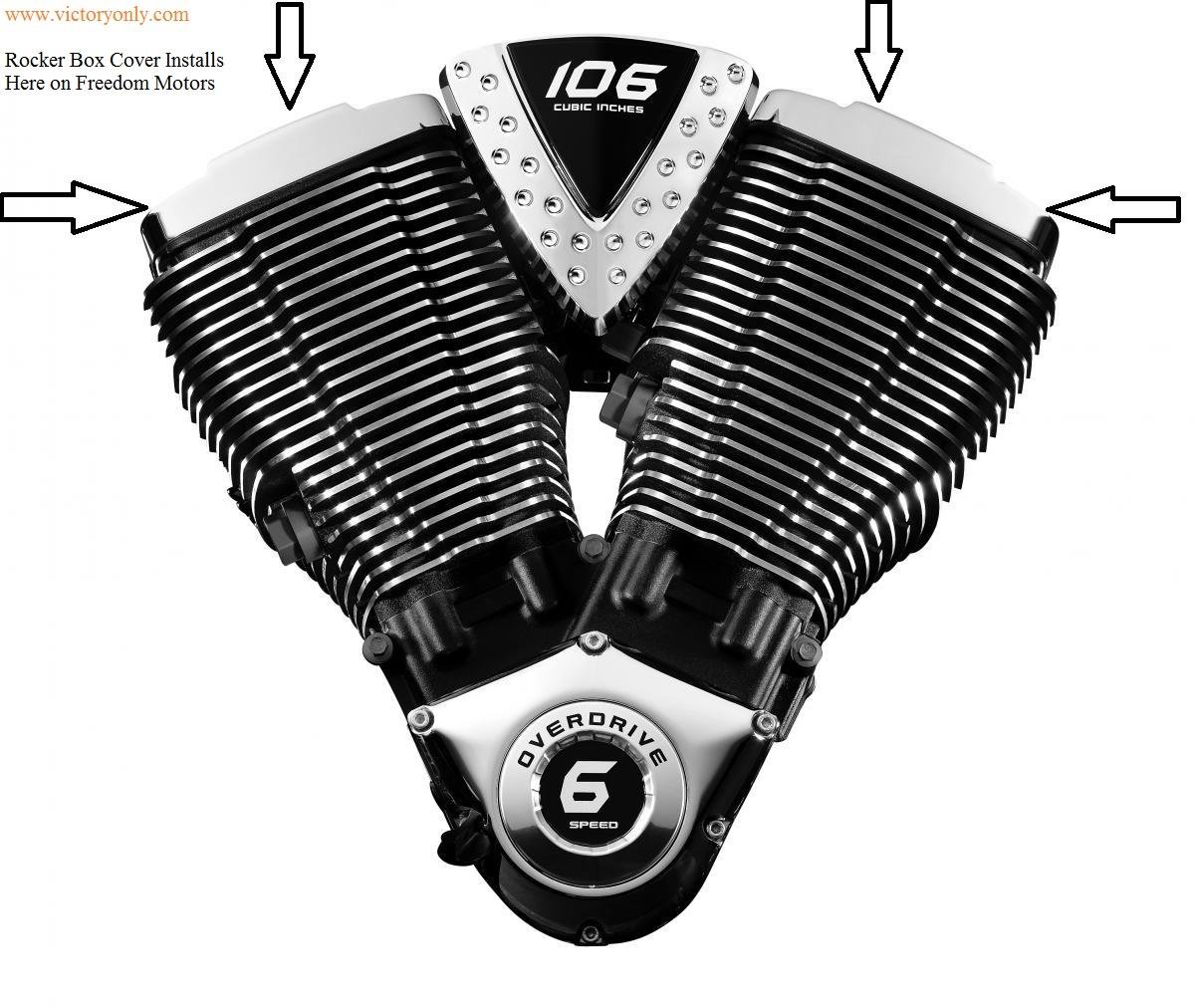 Rocker Box Engine Cover 10 Gauge Chrome Victory Motorcycle