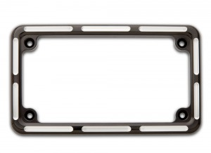 License Plate Frame Contrast Cut Black