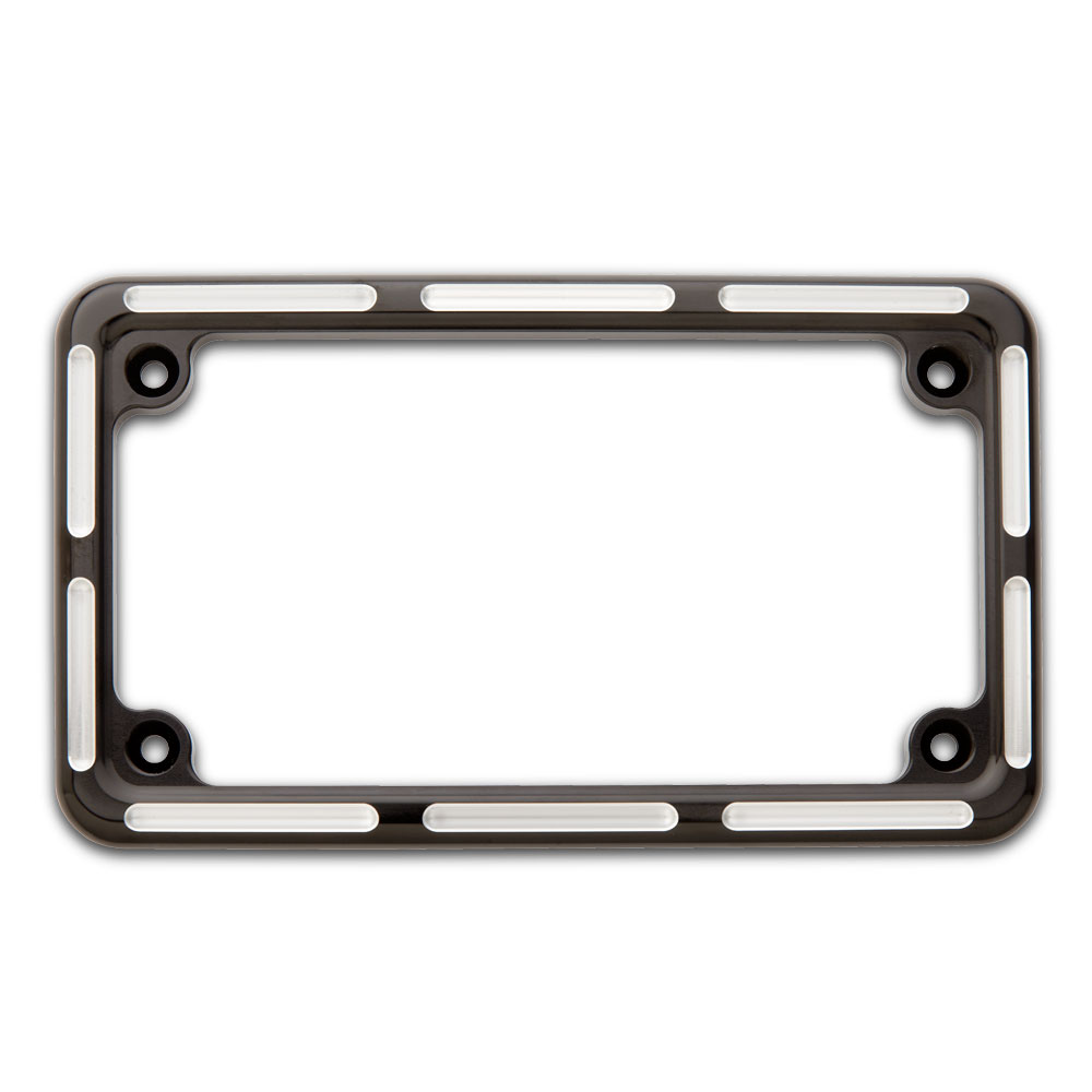 License Plate Frame Contrast Cut Black Victory Motorcycle Parts for ...
