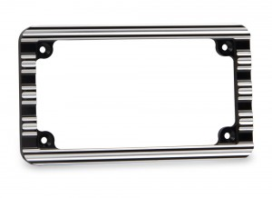 License Plate Frame - Black Contrast Cut