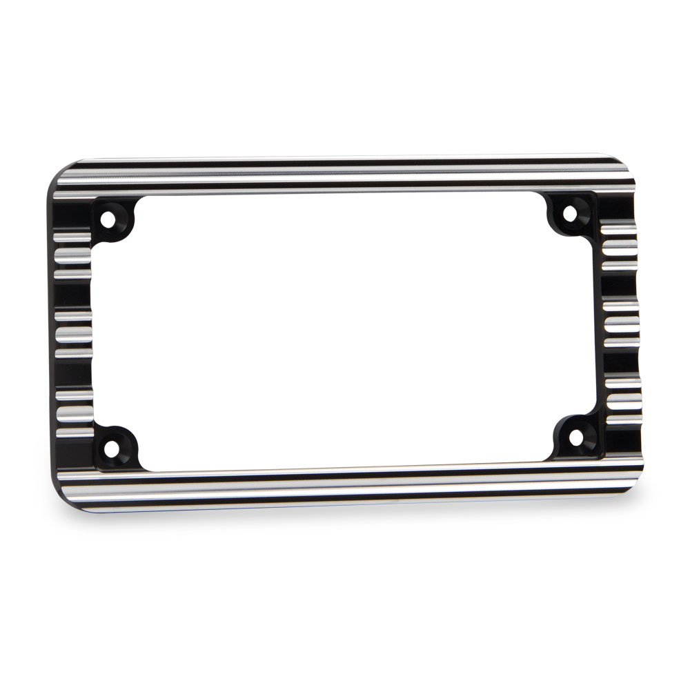 License Plate Frame   Black Contrast Cut