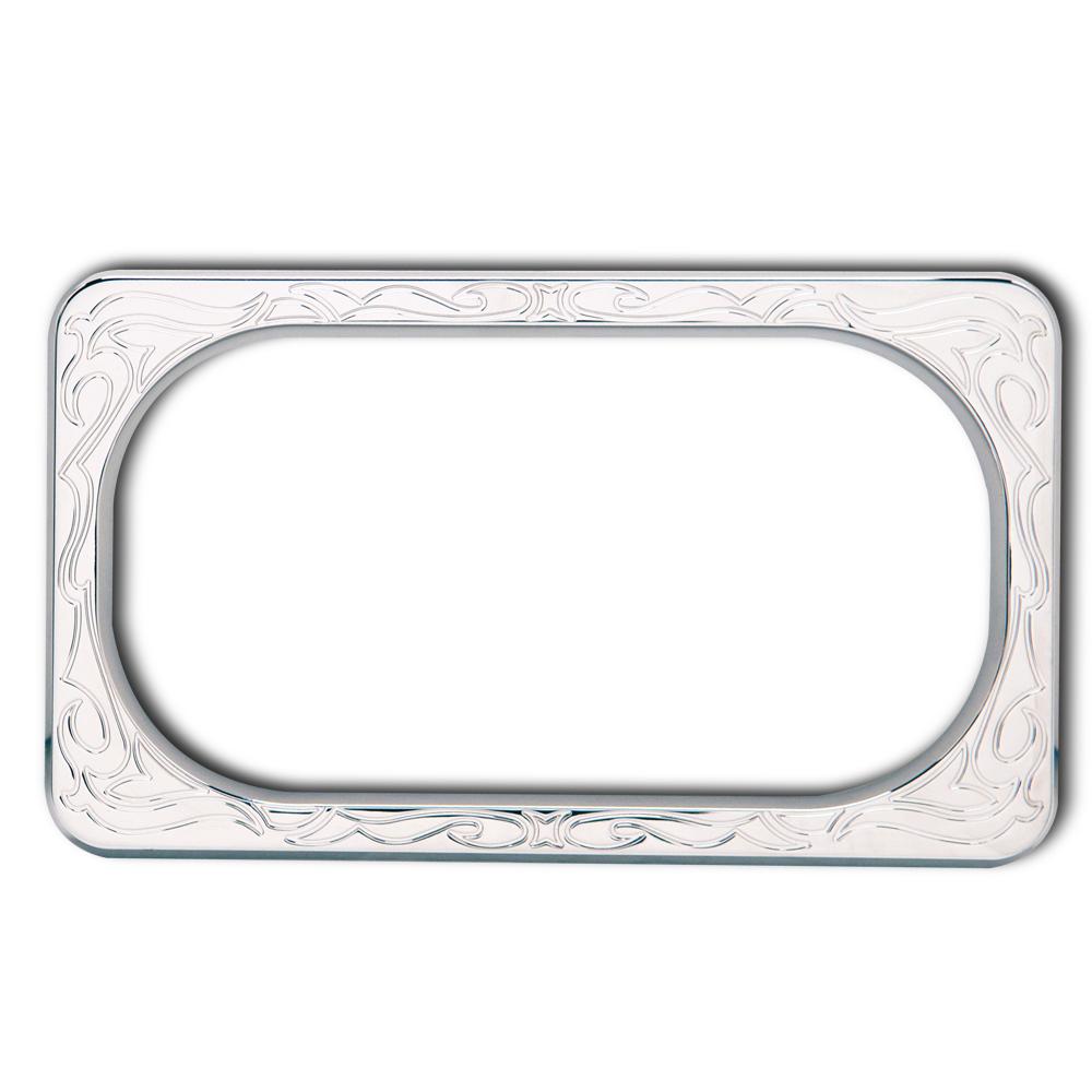 Custom engraved chrome license plate frames best photos of frame truimage org - Decorative chrome plating ...
