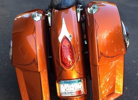 2007 victory motorcycle vegas kingpin rear fender block off tail light6 trim installed chrome black