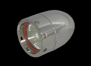 Bullet Lights, Large Flat Bezel with Holes