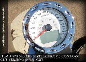 Speedo Bezels, Chrome, Jewell Cut