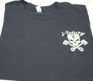 Tshirt Victory Skull Piston Black
