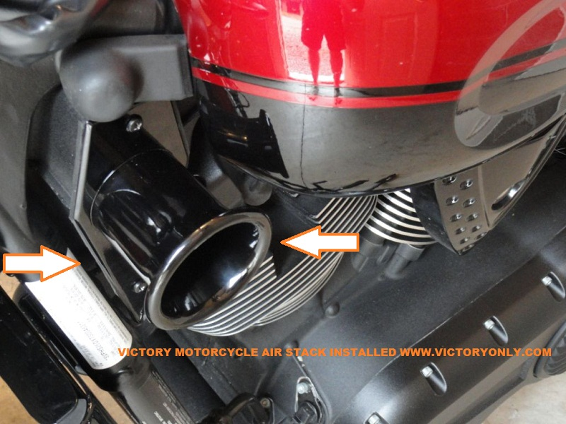 Custom Motorcycle Air Cleaner Cover : Air box cover performance stack black victory parts