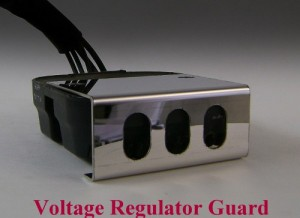 Voltage Regulator Cover, Polished Slot Style