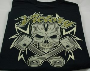 Tshirt Victory Skull Piston Black