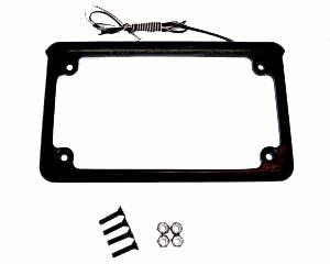 LED Illuminated Plate Frame w/ mounting hardware,  Black