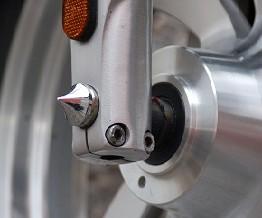 Axle Caps, Front Small Cone, Chrome