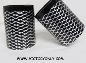 "Victory ""Cross Hatch"" Chrome Hot Rod Exhaust Tips"