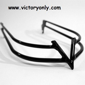 "Victory ""V"" Flat Black Front Bumper"