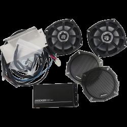 klock werks kicker speaker upgrade and amp front fairing. Black Bedroom Furniture Sets. Home Design Ideas