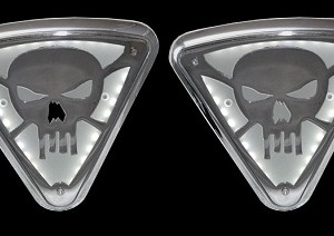 Lighted Wedge Cover, Skull no Bones