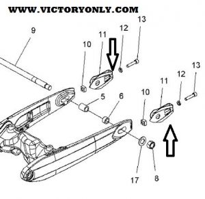 Bracket Axle Adjuster Victory Hammer Jackpot