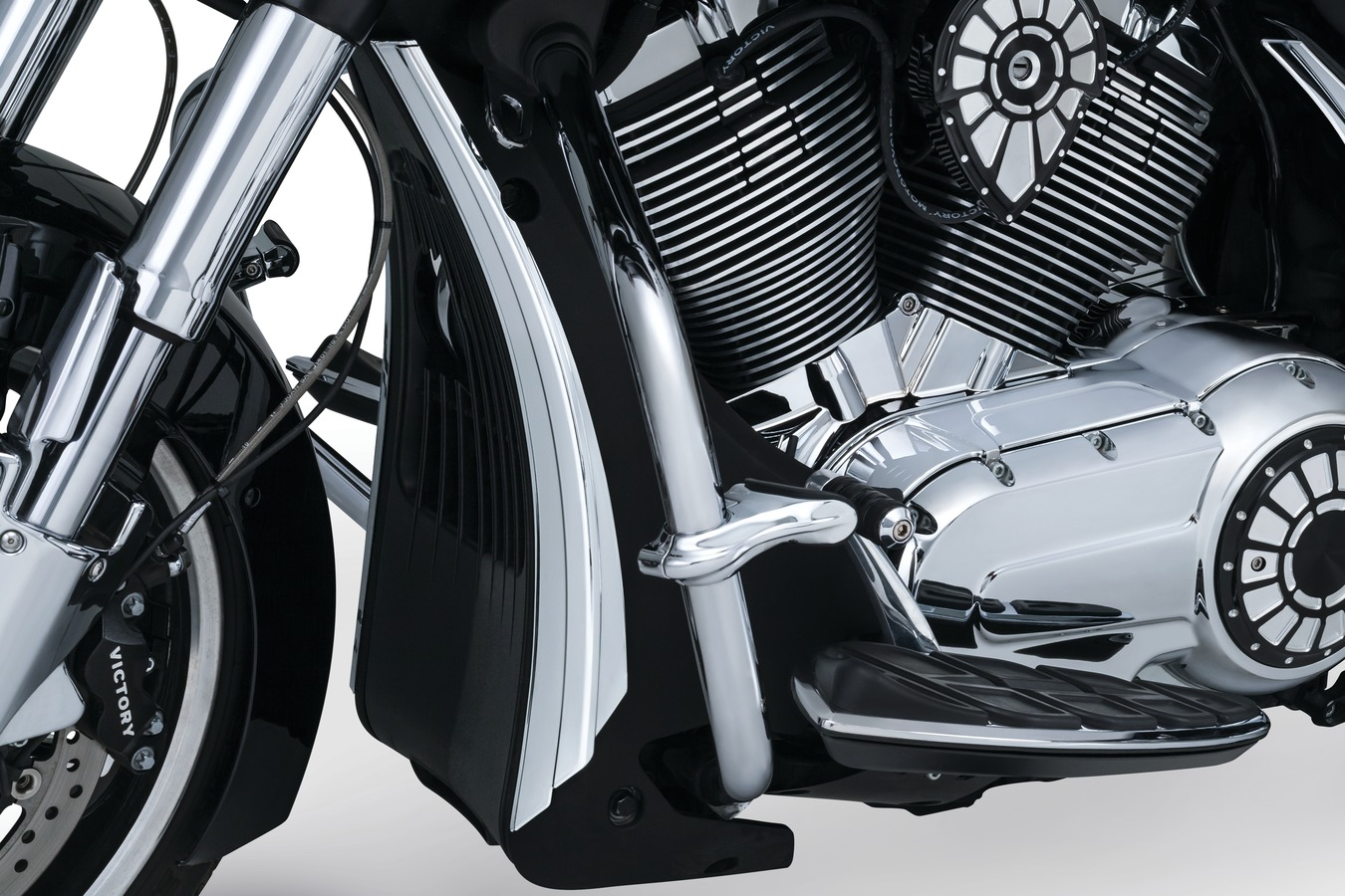 Victory Motorcycle Parts >> Chrome Chin Grill Shroud Accents For Victory Victory Motorcycle