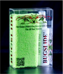 Is exactly that, a convenient way to carry BUGSLIDE cleaner, polish and bug remover