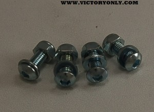 CHROME LICENSE PLATE BOLT SET VICTORY MOTORCYCLE 002