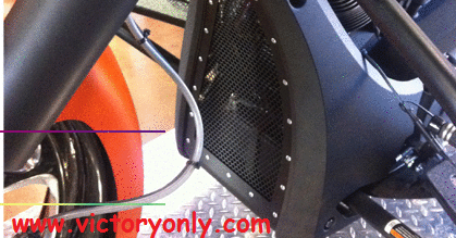 Picture Installed Grill Insert Stainless Rolled Steel Fits Cross Country Cross Roads, Hardball, Magnum Motorcycles