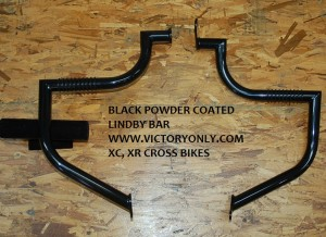 BLACK POWDER COATED FRONT LINDBY BAR FOR VICTORY MOTORCYCLE CROSS COUNTRY, VICTORY MOTORCYCLE CROSS ROADS