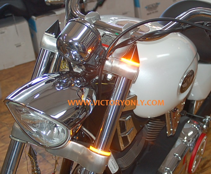 LED FORK CAP LIGHT VICTORY MOTORCYCLE CUSTOM NEW TURN SIGNAL LIHGTS VICTORY MOTORCYCLE CUSTOM PARTS