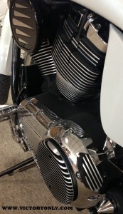 SPARK PLUF FILLERS FINNED INSTALLED VICTORY VEGAS MOTORCYCLE 001