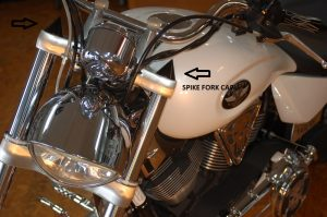 Fork Covers Spike Black or Chrome Custom