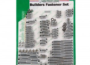 The builder kit contains: All hardware in the 106 engine kit, gas cap mount, crash bar and lower fairing mount, handlebar lever & switch boxes, floorboards, kickstand, front fender, triple tree pinch bolts, shift linkage bracket, tour pack mount, brake caliper (to fork leg), rear master cylinder, and front axle pinch bolts.