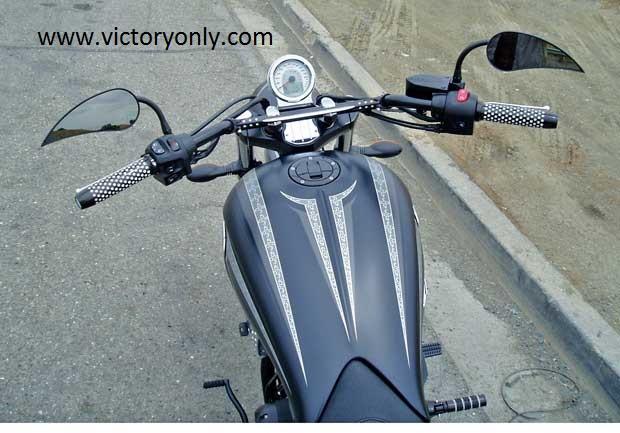 Victory Motorcycle Mirror Rad2 Teardrop Black Right