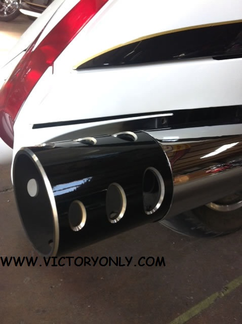 Victory Flat Black Hot Rod Exhaust Tips & Exhaust Tips Stock Pipes Hole Victory Motorcycle Parts for Victory ...