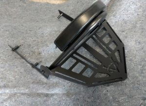 Sissybar backrest & Rack Kit Victory Motorcycle Hammer Jackpot Black VICTORY MOTORCYCLE HAMMER OR JACKPOT SISSY BAR BACKREST KIT IN BLACK CERAMIC COATED. THE BLACK BACKREST AND SISSY BARS ARE A TRUE FLAT BLACK FINISH FOR THE 8 BALL MOTORCYCLES OR ANYONE LOOKING TO BLACK OUT THEIR VICTORY MOTORCYCLE. ADD AN OPTIONAL REAR RACK TO FINISH OFF THE LOOK OF THESE WIDE AND NEW LOOK BACKRESTS. NO LONGER A SKINNY BACKREST ON A FAT FENDER HAMMER AND JACKPOT. ACTUALLY A BACKREST MADE TO FIT YOUR VICTORY. THIS IS THE FULL KIT EVERYTHING YOU NEED TO INSTALL. INCLUDES NEWEST DESIGN RACK JUST RELEASED! THE RACK IS BUILT TO MATCH THE ANGLE OF THE REAR FENDER Receivers bolt to last two eyebrow mounts in stock fender mounts. INCLUDES ALL HARDWARE AND MOUNTING INSTRUCTIONS. Fits 2005 – 2017 Victory Hammer & Victory Jackpot & Victory Vegas Jackpot (not standard vegas) Triple Finish Show Chrome. • Nicest sissy bar you can get for your Victory. • Clean and simple no bars hanging all over your bike. WIDE AND MOST COMFORTABLE ON THE MARKET !! WIDE BACKREST TO MATCH THE WIDE FENDER JACKPOT AND HAMMER MOTORCYCLE FENDERS. NO MORE SKINNY SISSY BAR ON A WIDE FENDER JACKPOT AND HAMMER HAMMER & JACKPOT RACK KIT INCLUDED Measures 16.5 inches wide and tapers to 11 inches wide before going to point. 10.5 inches Long. Height of sides under rack also Tapers to match the contour of the rear Fenders. Its 1.75 high at back point then tapers to 1 inch close to the point. Note: Sissy bar will work but the rack will not work with the MUSTANG Dwide touring seat on rear like on the Ness Jackpot. It doesn't leave the clearance needed.