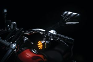 black skeleton hands with chrome head for Victory motorcycles
