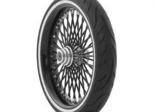 cross country whitewall front tire Avon Cobra Tire AV71, 120/70-21, Bias, Front, 68V Whitewall