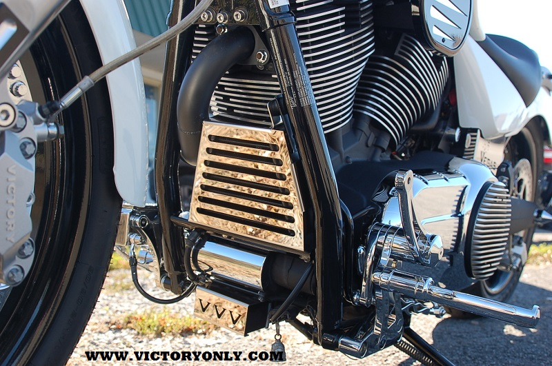 Victory Motorcycle Parts >> Oil Cooler Cover Straight Fin 2008 and newer Victory ...