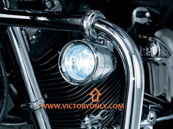 Victory Motorcycle Driving Light Highway Bar Mounted Kit