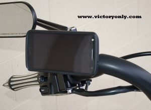 Victory Motorcycle Phone Mount Installed