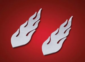 flame decal 6 inch 8 inch