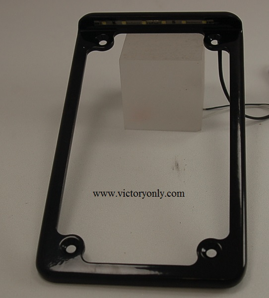 License Plate Frame VERTICAL LED Black, Chrome XC XR Vision Victory ...