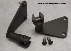 forged highway bar peg mounting kit victory only motorcycle cross country magnum black
