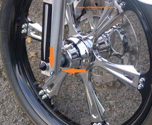 Front Axle Pinch Bolt Chrome Bolt Set