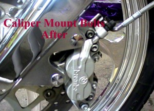 Front Caliper Mount Bolt Chrome Caps