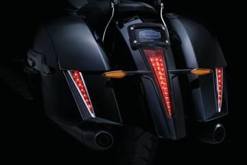 7679 black tail light top trim