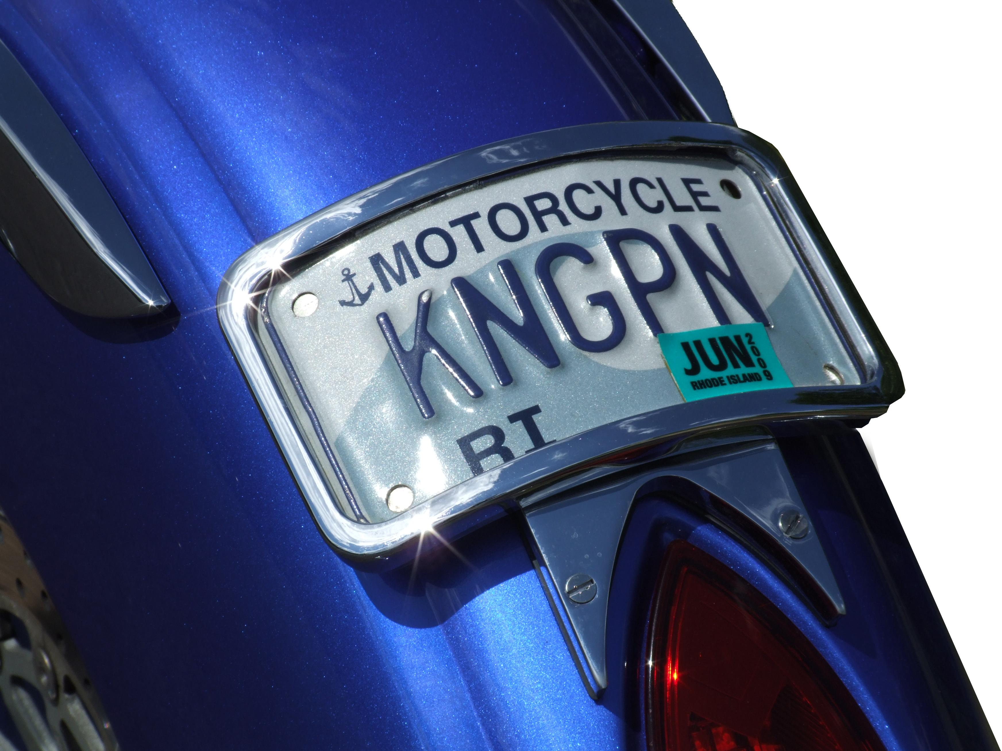 Victory Motorcycle Parts >> Radius Illuminated Laydown License Plate Mount Chrome or ...