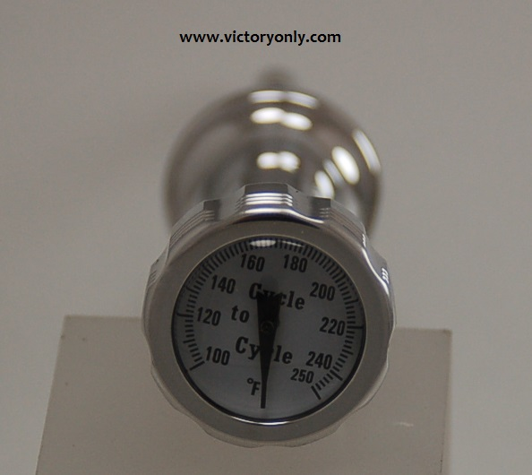 Temperature Gage Dipstick Powder Coated Black or Polished