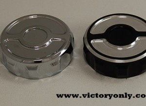 CONTRAST CUT VICTORY MOTORCYCLE REAR MASTER CYLINDER CAP ONLY (RESERVOIR NOT INCLUDED)