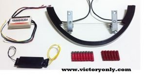 Rear Run Brake Turn Led Installed Victory Motorcycle Vegas Smoke Lens