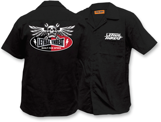 Full embroidered work shirts victory only motorcycles for Embroidered work shirts online